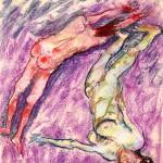 """Fausto Pirandello, """"Bagnanti"""", 1962"""