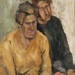 """Fausto Pirandello, """"Madre e figlio"""", 1949"""