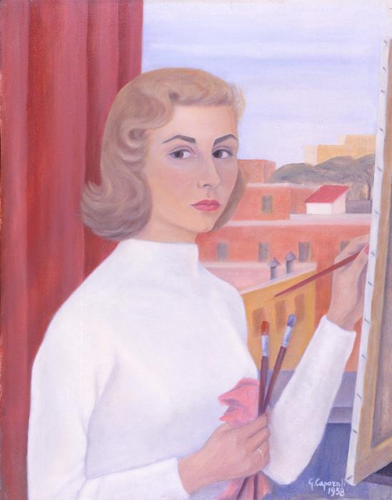 """Giuliana Caporali, """"Autoritratto"""", 1958"""